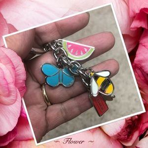 NWOT Authentic Coach Butterfly Bee Keychain